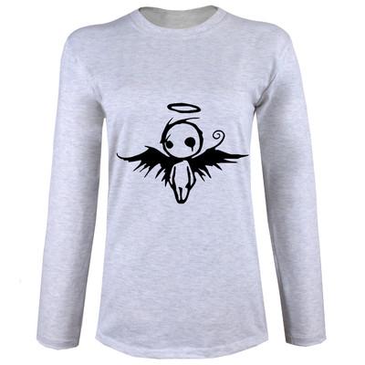 تی شرت آستین بلند زنانه طرح فرشته کد B12