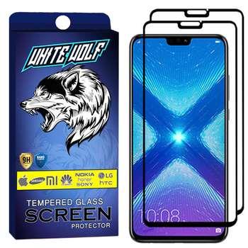 محافظ صفحه نمایش وایت ولف مدل WGF مناسب برای گوشی موبایل آنر 8X بسته 2 عددی