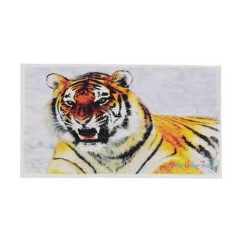 حوله دستی دریا گلزار مدل Tiger سایز 35 * 55 سانتی متر