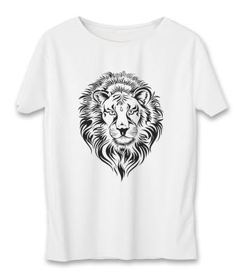 تی شرت مردانه به رسم طرح شیر کد 3332