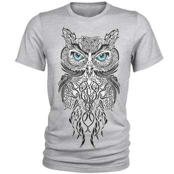 تی شرت مردانه طرح جغد کد A001