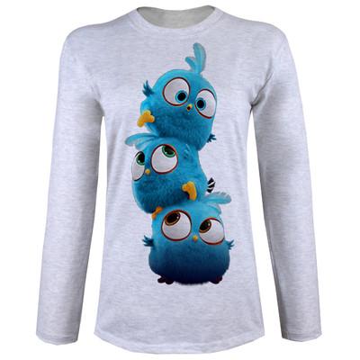 تصویر تی شرت آستین بلند زنانه طرح جوجه کد B04