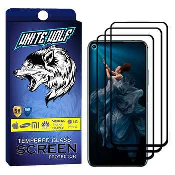 محافظ صفحه نمایش وایت ولف مدل WGF مناسب برای گوشی موبایل آنر  20 Pro بسته 3 عددی