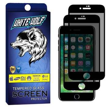محافظ صفحه نمایش حریم شخصی وایت ولف مدل WGP مناسب برای گوشی موبایل اپل iPhone 6 بسته 2 عددی