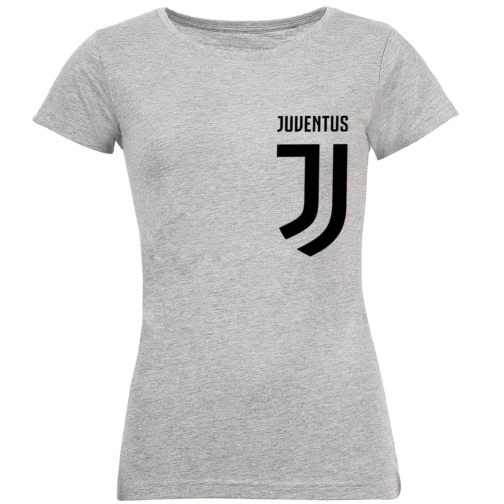 تصویر تی شرت آستین کوتاه زنانه طرح یوونتوس کد S235