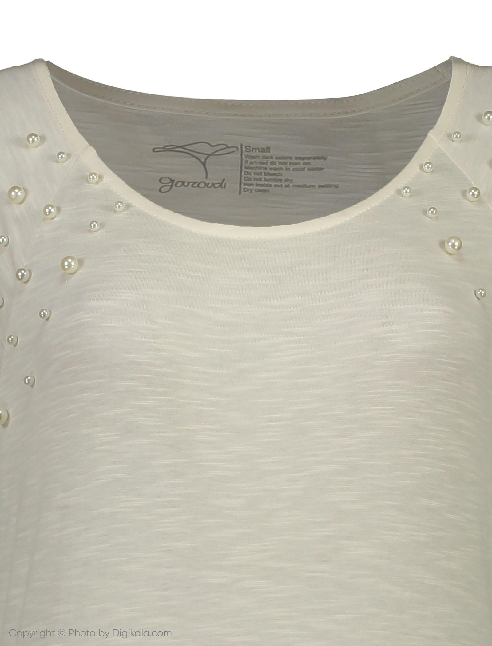 تی شرت زنانه گارودی مدل 1003104023-91 -  - 2