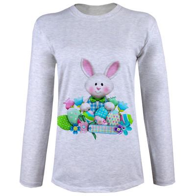 تصویر تی شرت  آستین بلند زنانه  طرح خرگوش کد B74