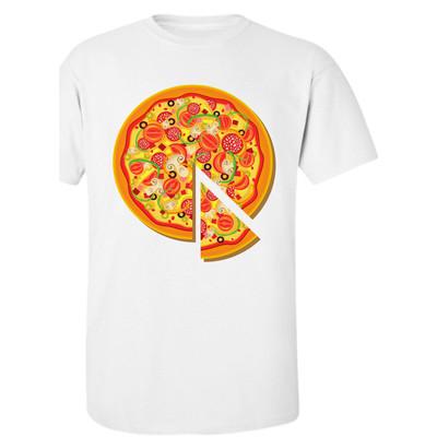 تصویر تیشرت مردانه طرح پیتزا کد 47