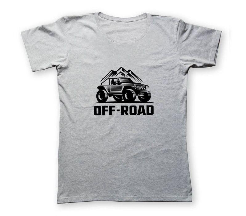 تی شرت مردانه به رسم طرح آفرود کوه کد 2245