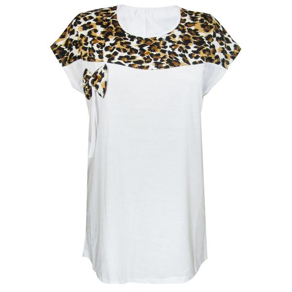 تونیک زنانه مدل Top Tiger رنگ سفید