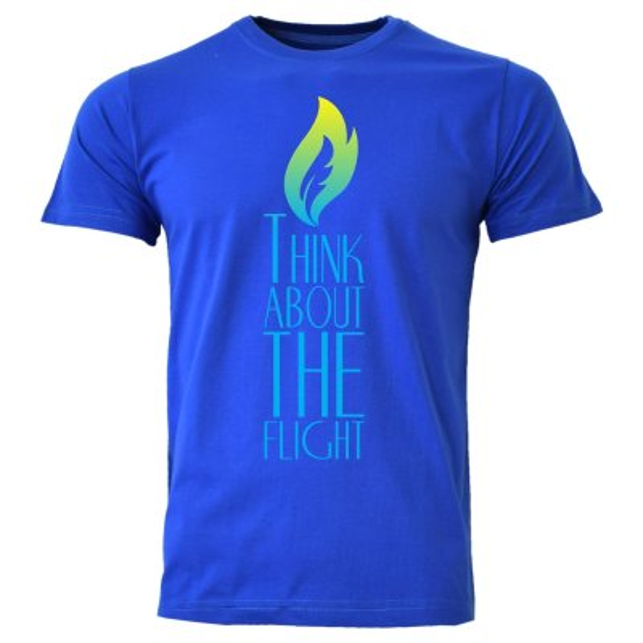 تیشرت مردانه طرح شمع کد LP3 رنگ آبی