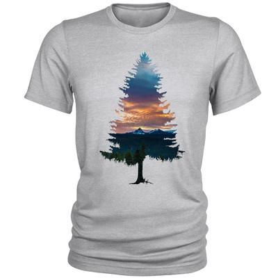 تصویر تی شرت مردانه مدل Tree کد A077