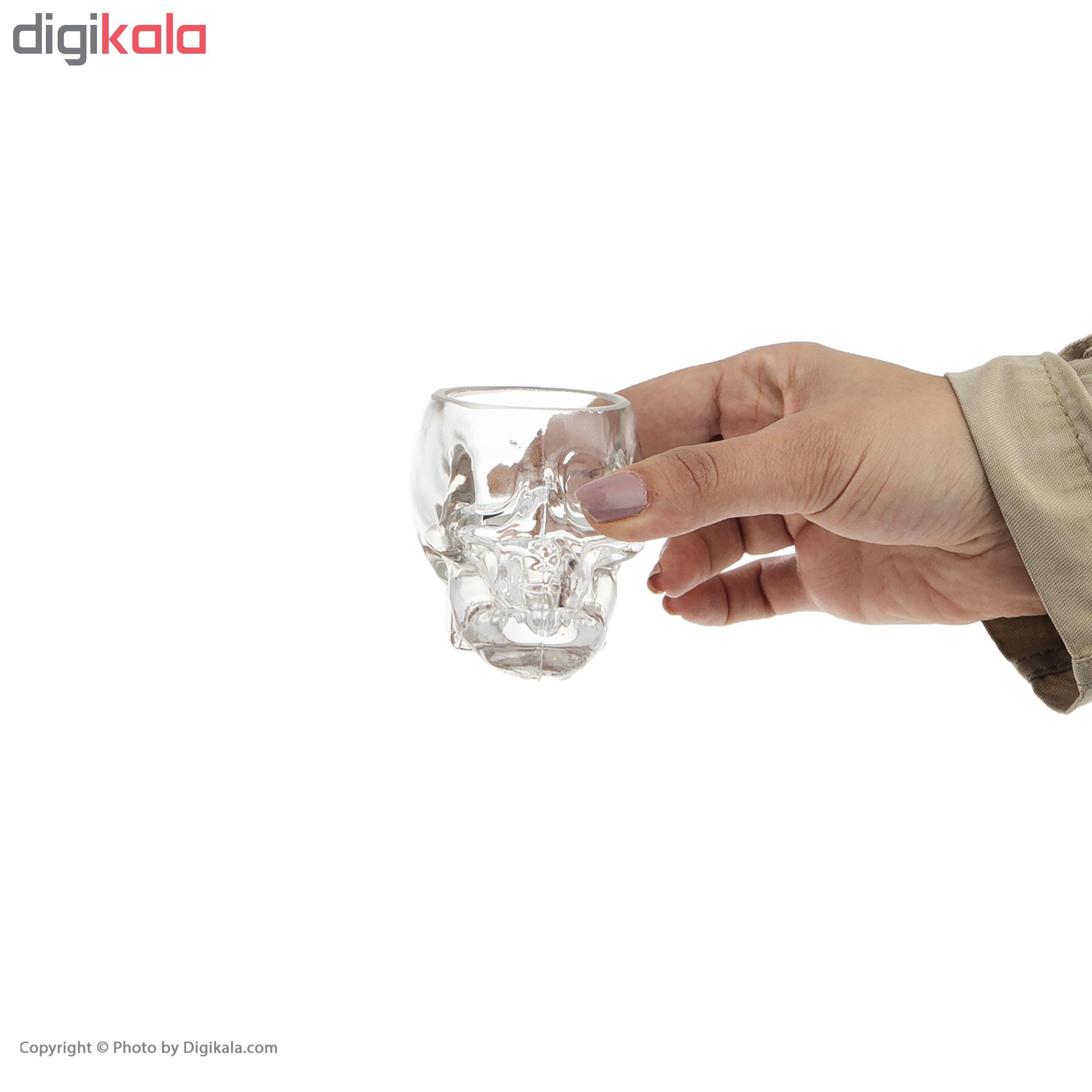 جاشمعی شیشه ای طرح جمجمه اسکلت مدل BOH100