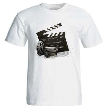 تیشرت آستین کوتاه مردانه طرح کلاکت سینما کد 3853