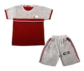 ست تی شرت و شلوارک پسرانه کد 3-380041