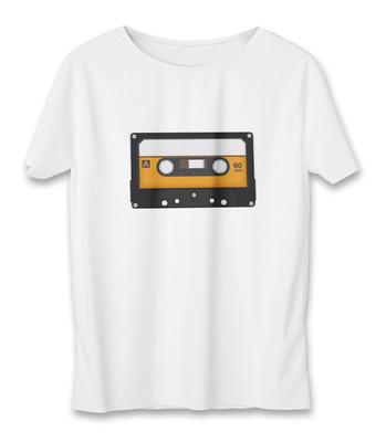 تی شرت زنانه به رسم طرح نوارکاست کد 5535