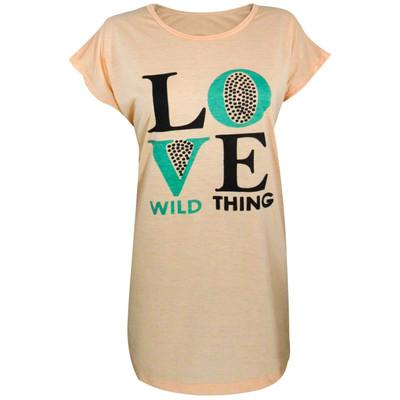 Photo of تی شرت زنانه مدل Square Love رنگ گلبهی