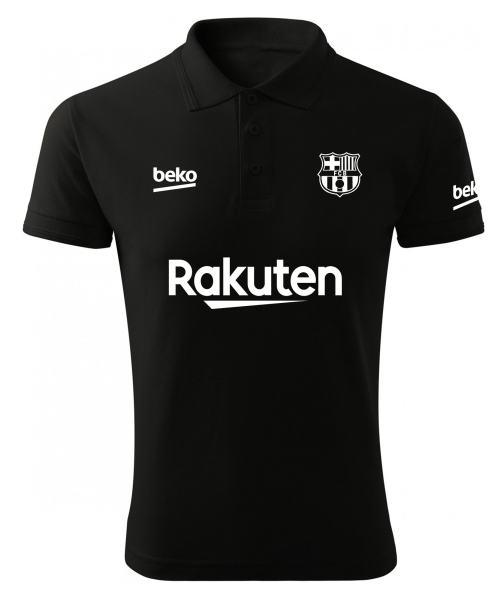 پولوشرت مردانه طرح تیم بارسلونا کد 160281 Black
