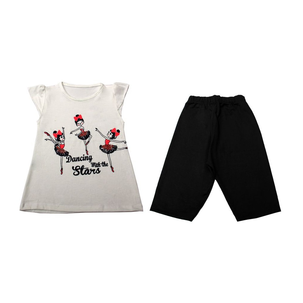 ست تی شرت و شلوار دخترانه کد 1-380029