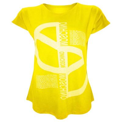 تیشرت آستین کوتاه زنانه مدل پارمیس کد tm-270 رنگ زرد