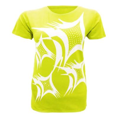 تصویر تیشرت آستین کوتاه زنانه کد tm-327 رنگ زرد