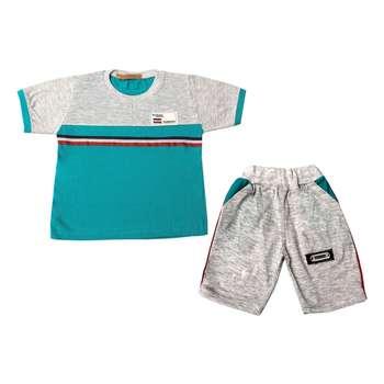 ست تی شرت و شلوارک پسرانه کد 5-380041