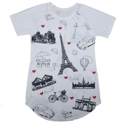 تصویر تی شرت زنانه طرح فرانسه