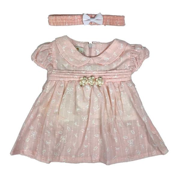 ست دو تکه لباس دخترانه طرح پروانه کد 2719