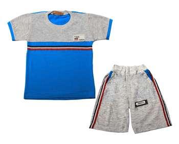 ست تی شرت و شلوارک پسرانه کد 1-380041