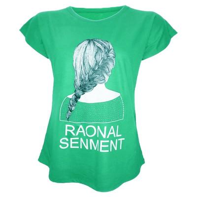 Photo of تیشرت آستین کوتاه زنانه طرح گیسو کد tm-331 رنگ سبز
