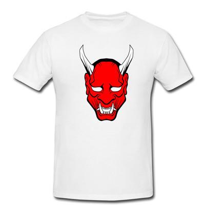 تصویر تیشرت مردانه طرح شیطان کد 0063