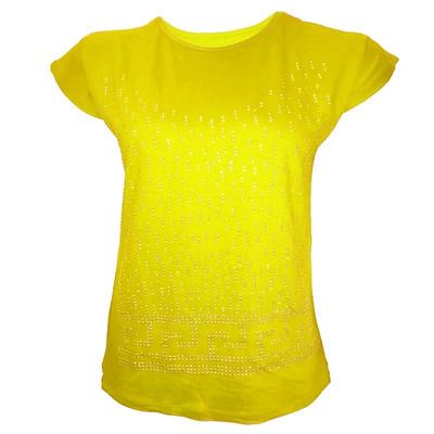 تیشرت آستین کوتاه زنانه طرح SEVDA کد tm-351 رنگ زرد