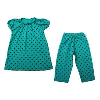 ست تی شرت و شلوار دخترانه کد 2-380030