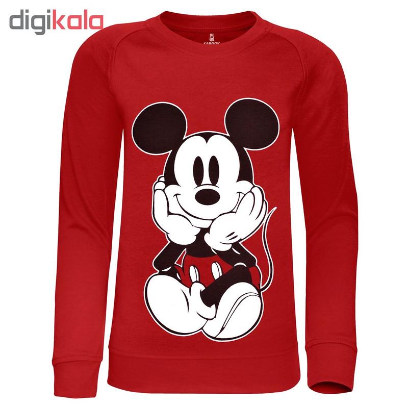 سویشرت پسرانه ساروک مدل Mickey Mouse رنگ قرمز