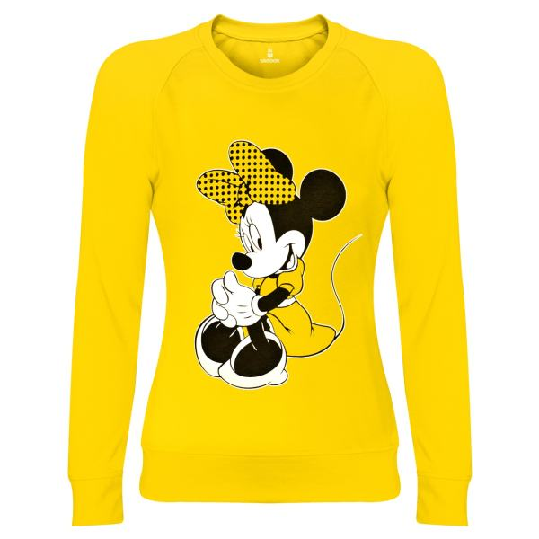 سویشرت زنانه ساروک مدل Minnie Mouse رنگ زرد