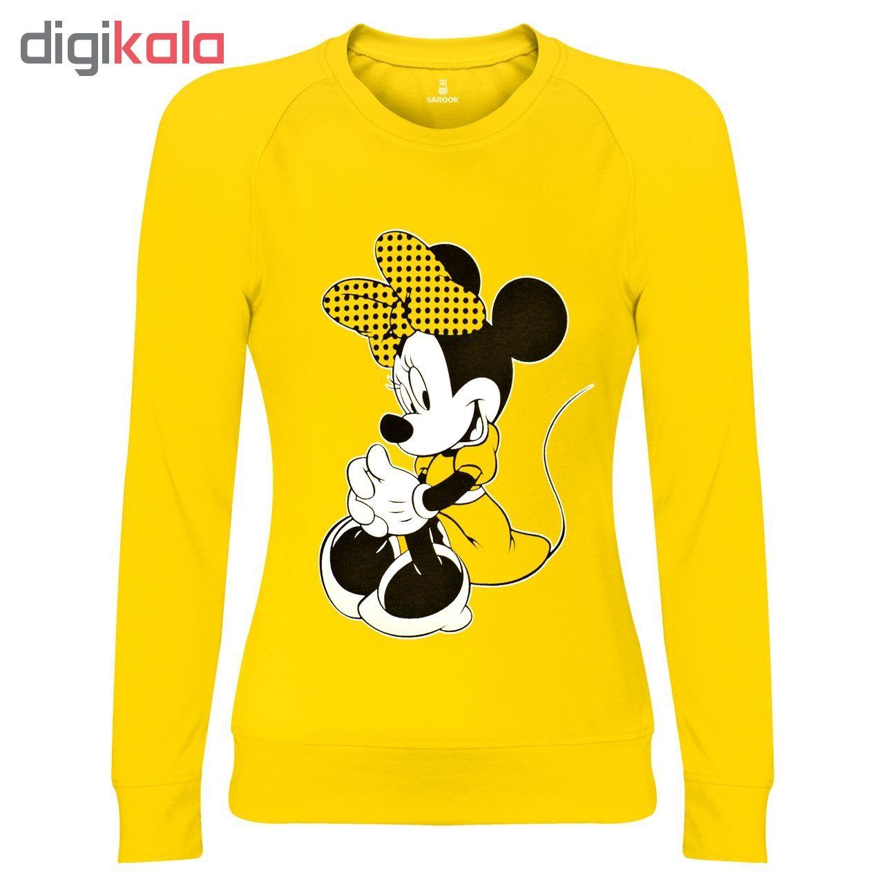 سویشرت زنانه ساروک مدل Minnie Mouse رنگ زرد main 1 1