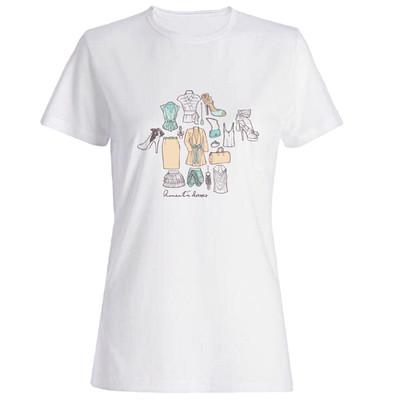 تیشرت زنانه طرح لباس کد 5920