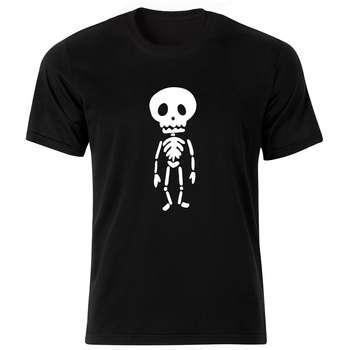 تی شرت آستین کوتاه مردانه طرح اسکلت کد BW-18243