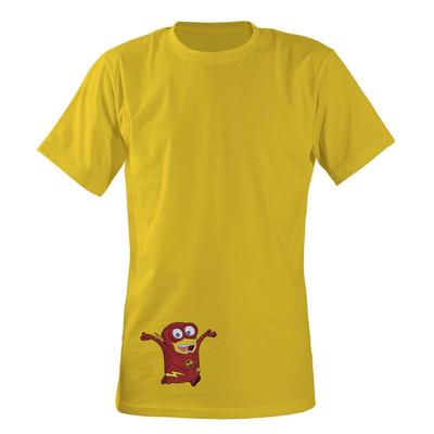 تی شرت آستین کوتاه مردانه مسترمانی طرح مینیون کد 1270