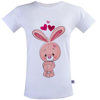 تیشرت زنانه آستین کوتاه آکو طرح خرگوش کد BS19