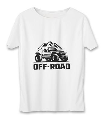 تی شرت زنانه به رسم طرح آفرود کوه کد 5545