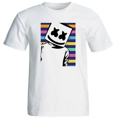 تصویر تی شرت مردانه طرح مارشملو  کد 17257
