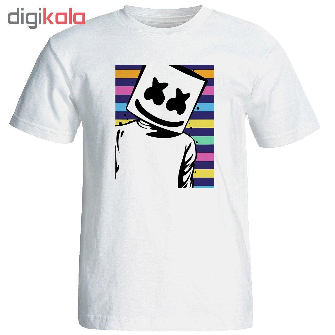 تی شرت مردانه طرح مارشملو  کد 17257 main 1 1