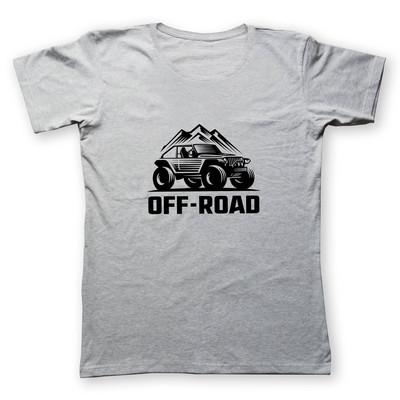 تی شرت زنانه به رسم طرح آفرود کوه 4445