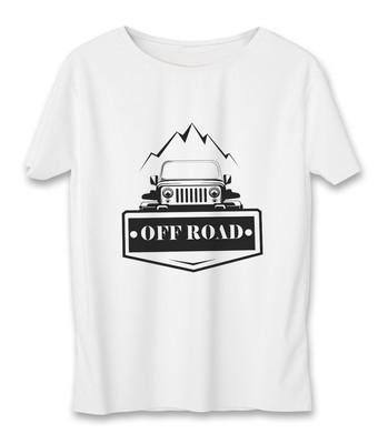 تی شرت زنانه به رسم طرح آفرود جیپ کد 5544