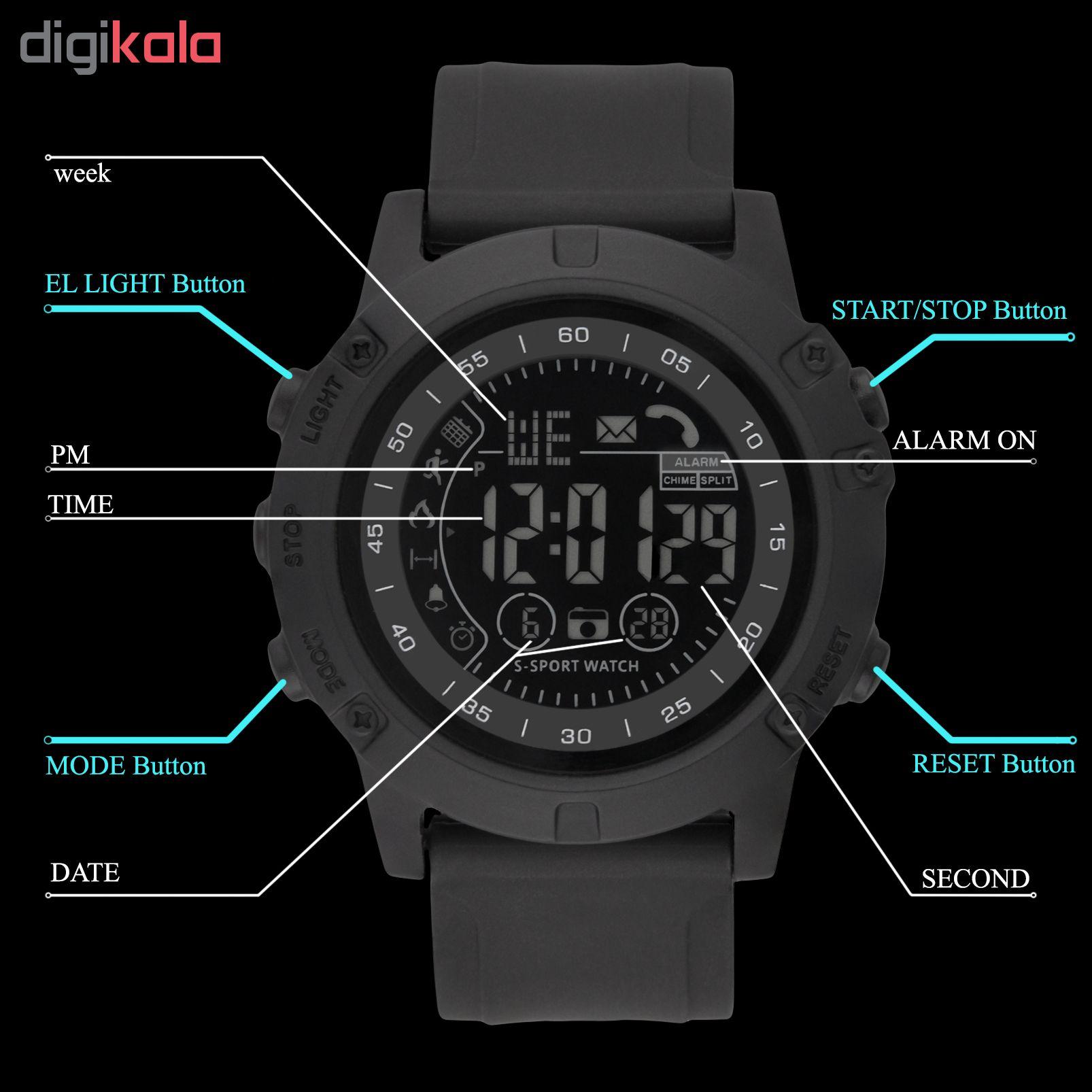 ساعت مچی دیجیتال مردانه پیائوما مدل SS-5P