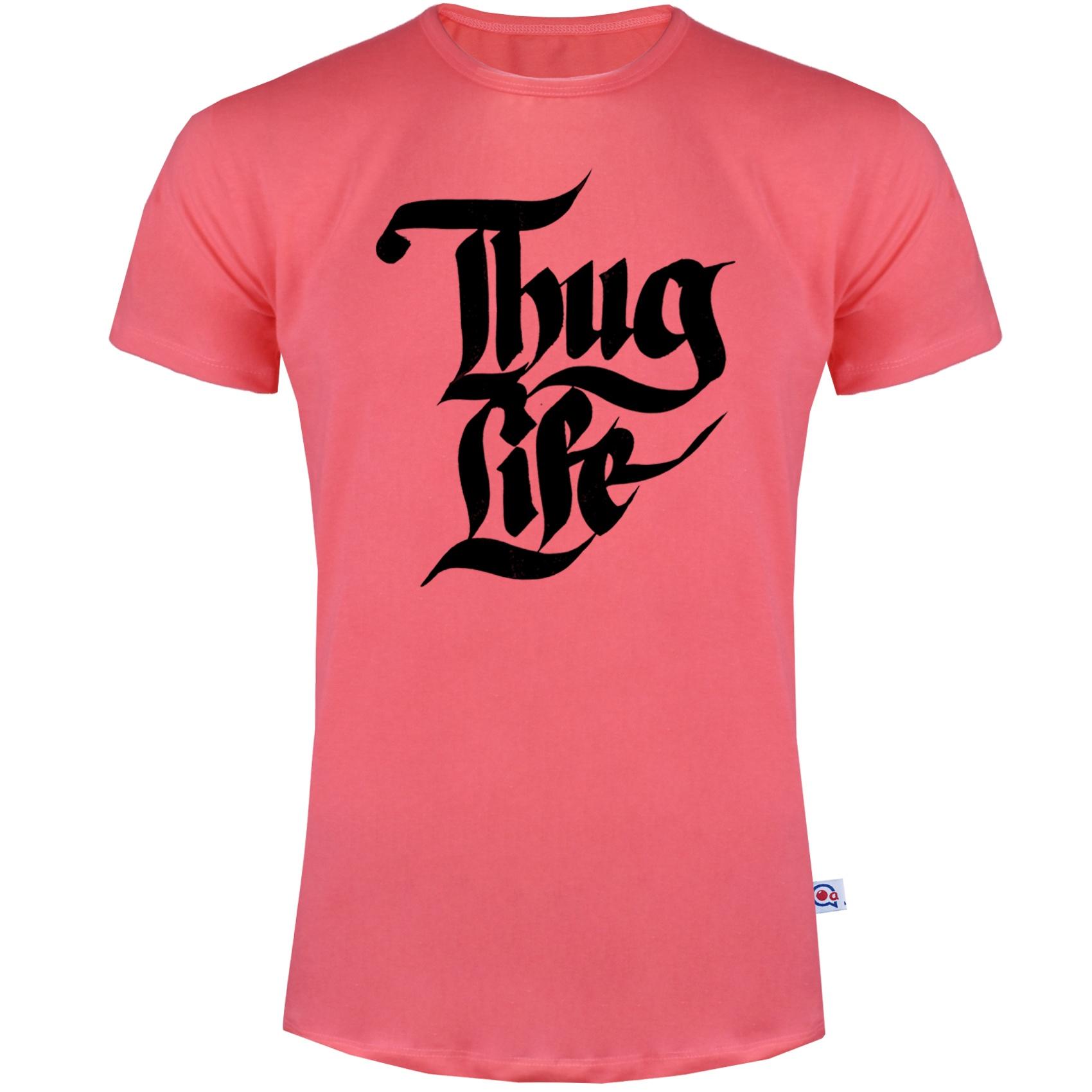 تصویر تیشرت آستین کوتاه مردانه آکو طرح Thug Life کد AG19