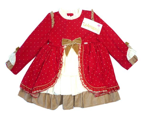 پیراهن دخترانه لاآماپولا مدل wonderland vv