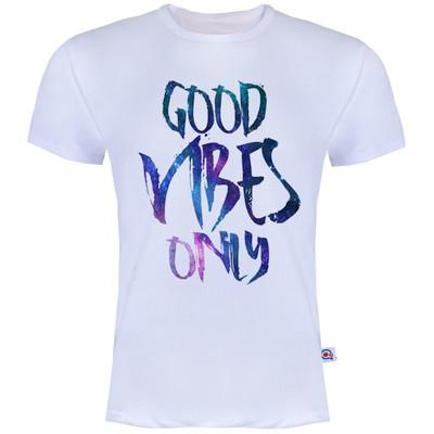 تصویر تیشرت آستین کوتاه مردانه آکو طرح Good Vibes کد AS7
