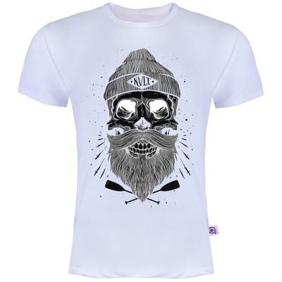 تصویر تیشرت آستین کوتاه مردانه آکو طرح skull کد AS8